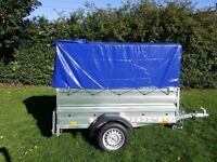 Trailer cars (6' x 4' x 2,17) double broadside and cover 80cm- £680 inc vat