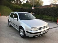 **STUNNING EXAMPLE+VOLKSWAGEN GOLF MATCH 1.4 PETROL 5 DOOR HATCHBACK SILVER (2003 YEAR)**