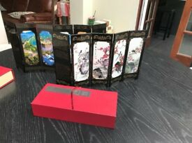 Chinese lacquered decorative pictures/ornaments