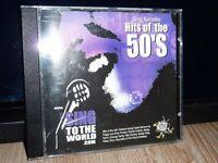 "KARAOKE CDG DISC-""HITS OF THE 50s"""