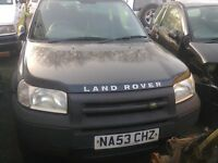 landrover freelander TD4 2003 no tax no test hence £650 or will brake no offers