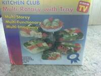 NEW Kitchen Club Multi Rotary with tray