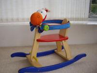 Baby/toddler wooden rocking horse/seat.