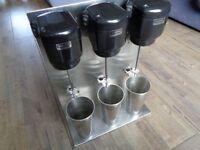 Triple Head Milkshake Mixer - American Diner Style - Cafe Freak shakes - Waring Commercial Shakes