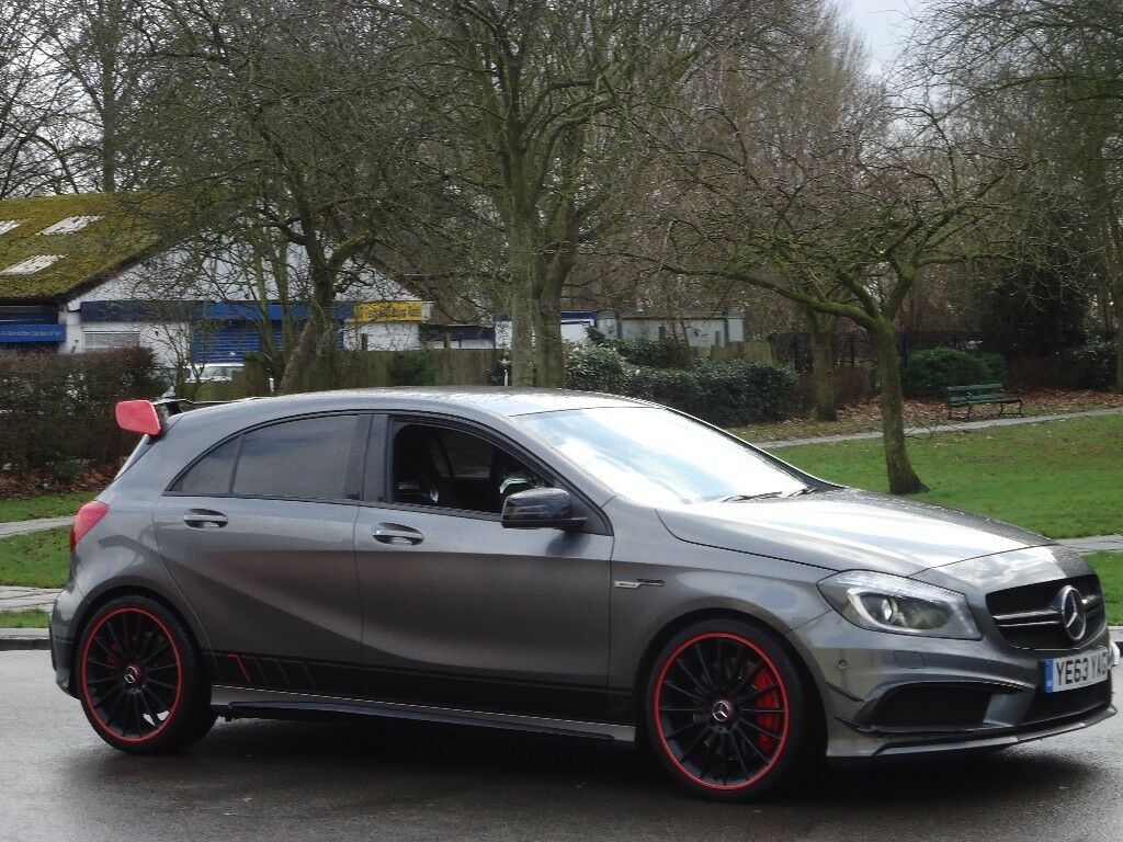 2013 mercedes benz a45 amg 400 bhp full milltek exhaust amg performance pack mega spec p x. Black Bedroom Furniture Sets. Home Design Ideas