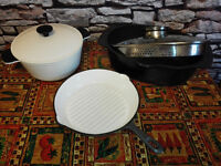 6 x Ikea pot cast iron pan roasting grill griddle casserole dish baking roasting trays with rack