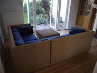 Jasper Conran corner sofa with matching coffee table