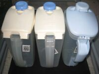 3 One Litre Plastic JUGIT Kitchen/Party/Picnic Jugs - All 3 for £3.00
