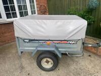 Larger Erde 142 tipping trailer + extension kit