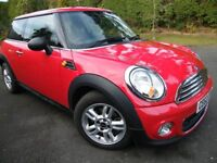 2012 Red MINI ONE. 1.6 3DR. FSH Petrol VERY LOW MILEAGE. Relunctant sale. £6,500. Long MOT & service