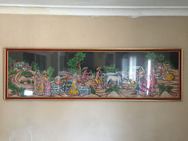 Cloth Picture with Frame Indian Art