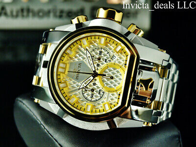 NEW Invicta Men's 52MM Bolt ZEUS MAGNUM Chronograph Dual Movement SS Watch
