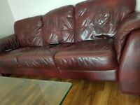 Leather sofa excellent condition.