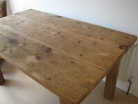 QUALITY RECLAIMED PINE DINING TABLE 5' X 3'