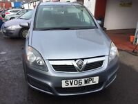 2006 VAUXHALL ZAFIRA CLUB 1.6 PETROL *** MOT APRIL 2017 *** 7 SEATER *** GOOD BARGAIN ***READY TO GO