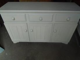 Pine painted sideboard