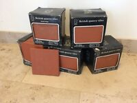 British quarry tiles- 5 boxes of 10 in quarry red