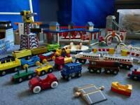 Brio wooden toy train set