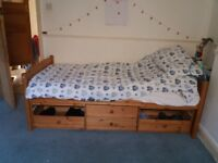 Argos Lennox cabin bed (only 4 drawers) - will sell with or without under drawers