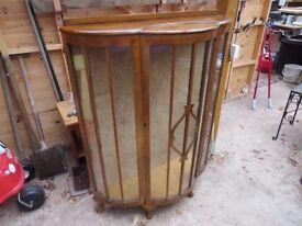 Vintage display cabinet - unusual beautiful shape - PRICE CUT TO JUST £40 !!!