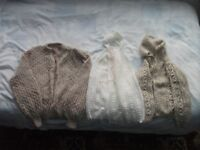 THREE HAND KNITTED CHILDREN'S CARDIGANS