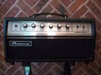 Ampeg GVT15H all valve Switchable 15w Head, C/W Carry case. New Boogie Valves