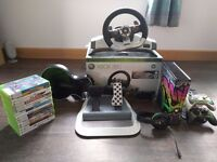 Xbox 360 300Gb console with games and accessories