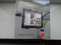 TABLET / PC BACKREST MOUNT, GRIPS THE TABLET FIRMLY, CLIPS ON THE BACK OF A CAR SEAT, BRAND NEW