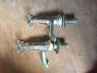 Pair original Art Deco bath taps