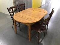 Solid pine extendable table and chairs, Free delivery