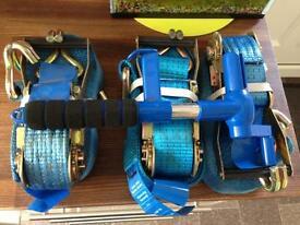 Ratchet straps and strap winder