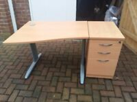 Office desk with 3 drawer pedestal ideal for student