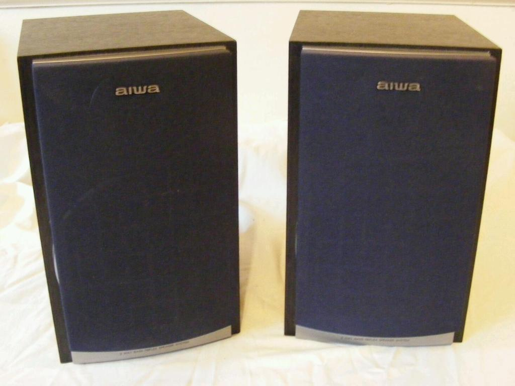 Aiwa Stereo Speakers Sx M25 Inc Grills Cheap And Loud