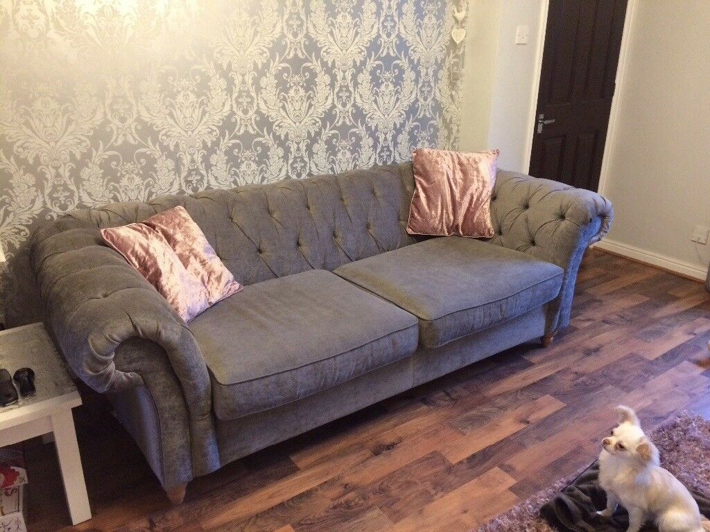 NEXT 3 seater chesterfield style