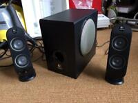 Logitech multimedia 2.1 PC speakers and subwoofer