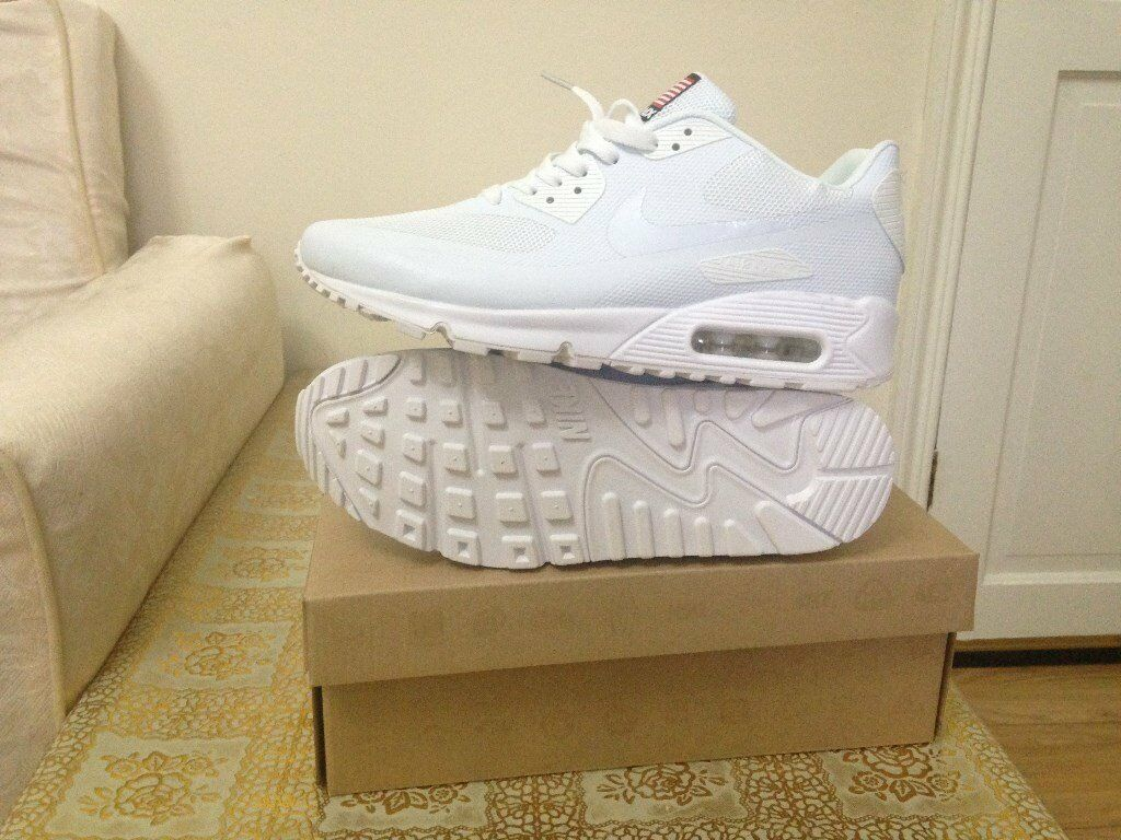 zuqeh nike air max 90 independance day hyperfuse white ,size 6 9 10 11