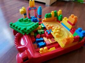 Mega Bloks First builders and learn table