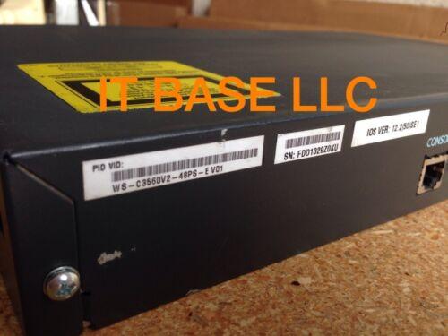 Cisco Ws-c3560v2-48ps-e 48 Ethernet 10/100 Port 4 Sfp-based Gigabit Ethernet Poe