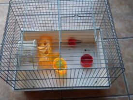 Hamster cage plus water bottle