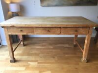 Farmhouse Kitchen/Dining Table - seats 6, 3 drawers