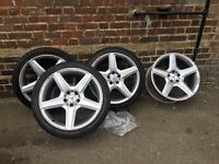 MERCEDES 19 INCH ALLOYS AMG FOR CLS WITH GOOD TYRES