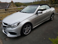 Mercedes Benz E220 CDI AMG SPORT Cabriolet Auto 1 Lady Owner full Mercedes service history