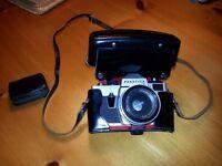 Praktica LB camera and case