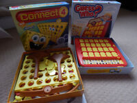 2 Kids Board Games, Guess Who & Spongebob connect 4