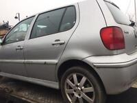 VW POLO 6N2 • 5DR • REFLEX SILVER LA7W • 1.4 PETROL ENGINE • DOOR WING BOOT ALLOYS • BREAKING SPARES