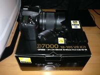 Nikon D7000 photography camera, with tripod and accessories