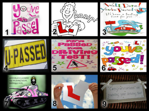Personalised Edible Passing your Driving Test Cake Topper Icing or Wafer Paper