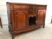 Antique mahogany Sideboard with brass handles.