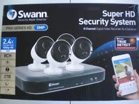 NEW SWANN SUPER HD SECURITY SYSTEM CCTV CAMERAS 5MP BULLET CAMERAS X 4 COMPLETE SYSTEM