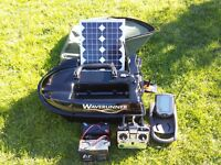 Waverunner bait boat with echo sounder/fish finder